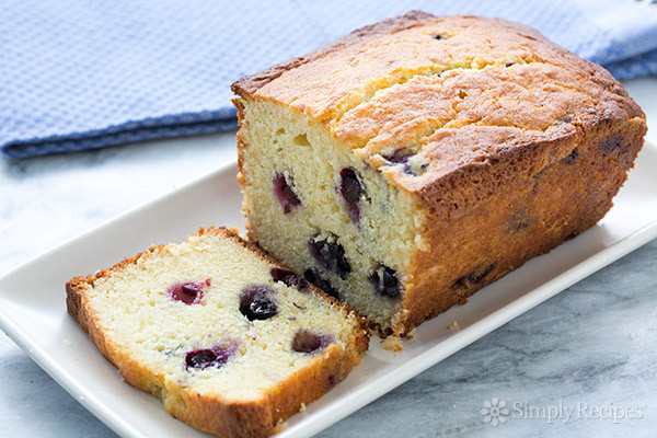 Blueberry Pound Cake  Lemon Blueberry Ricotta Pound Cake Recipe