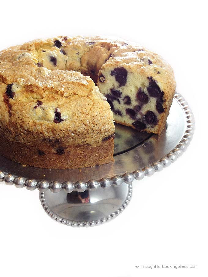 Blueberry Pound Cake  Blueberry Pound Cake Through Her Looking Glass