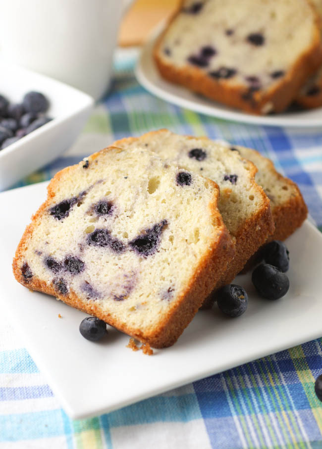 Blueberry Pound Cake  Blueberry Pound Cake