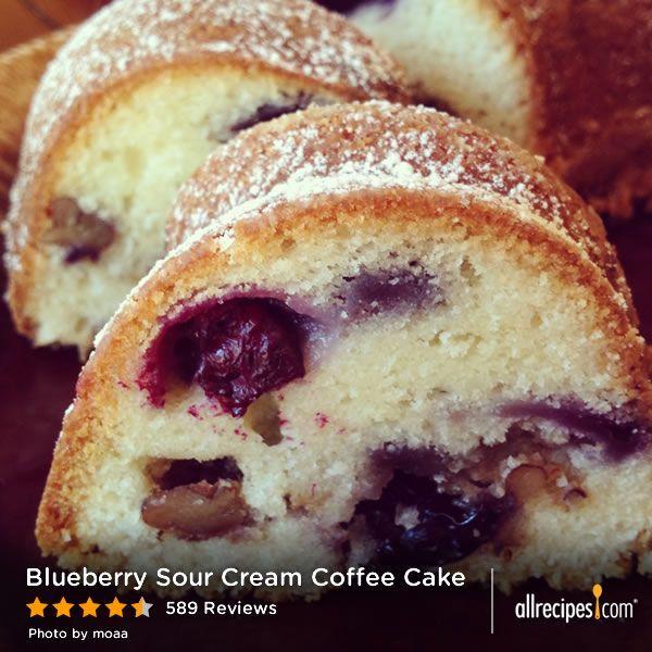 Blueberry Sour Cream Coffee Cake  Blueberry Sour Cream Coffee Cake Recipe — Dishmaps