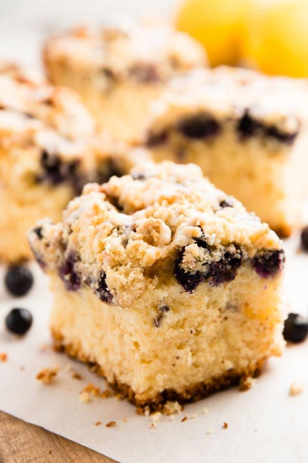 Blueberry Sour Cream Coffee Cake  Lemon Blueberry Sour Cream Coffee Cake with Cake Mix
