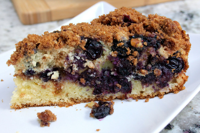 Blueberry Sour Cream Coffee Cake  Make a blueberry cinnamon skillet coffee cake for your