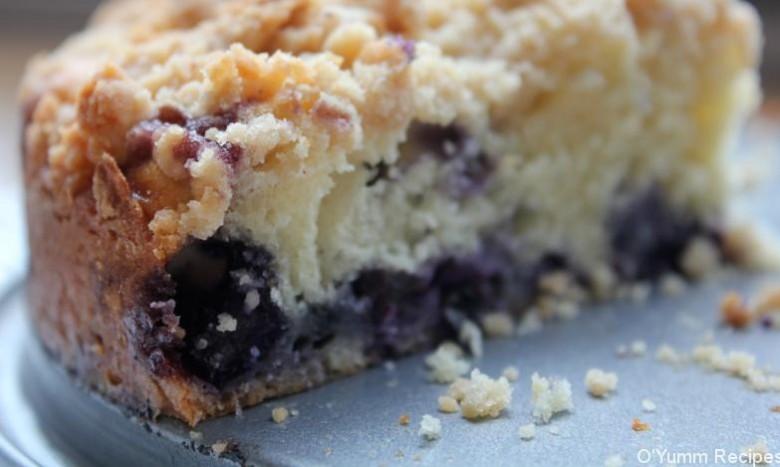 Blueberry Sour Cream Coffee Cake  Blueberry Sour Cream Coffee Cake Recipe