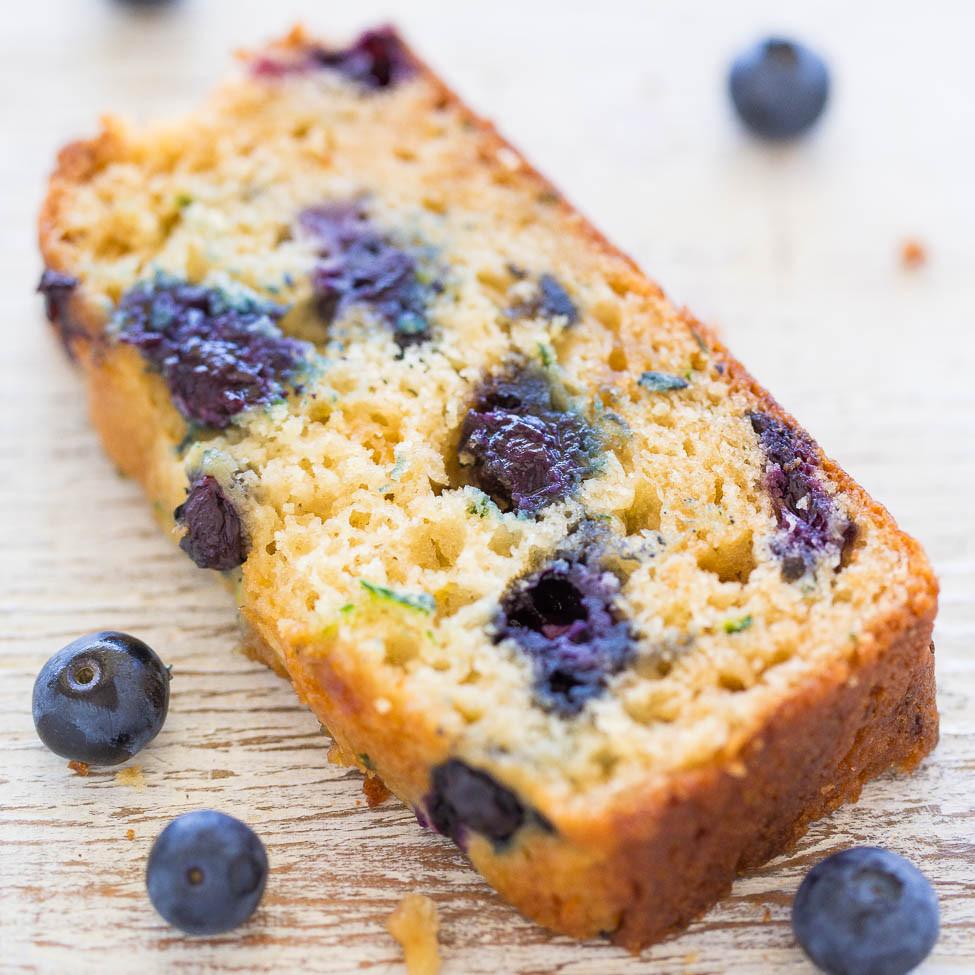 Blueberry Zucchini Bread  Blueberry Zucchini Bread Averie Cooks
