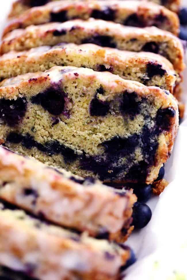 Blueberry Zucchini Bread  Blueberry Zucchini Bread with a Lemon Glaze