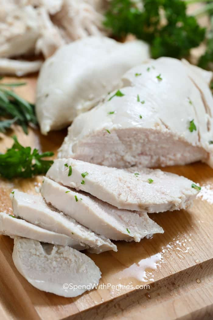 Boiled Chicken Breasts Recipe  How to Make Poached Chicken Spend With Pennies
