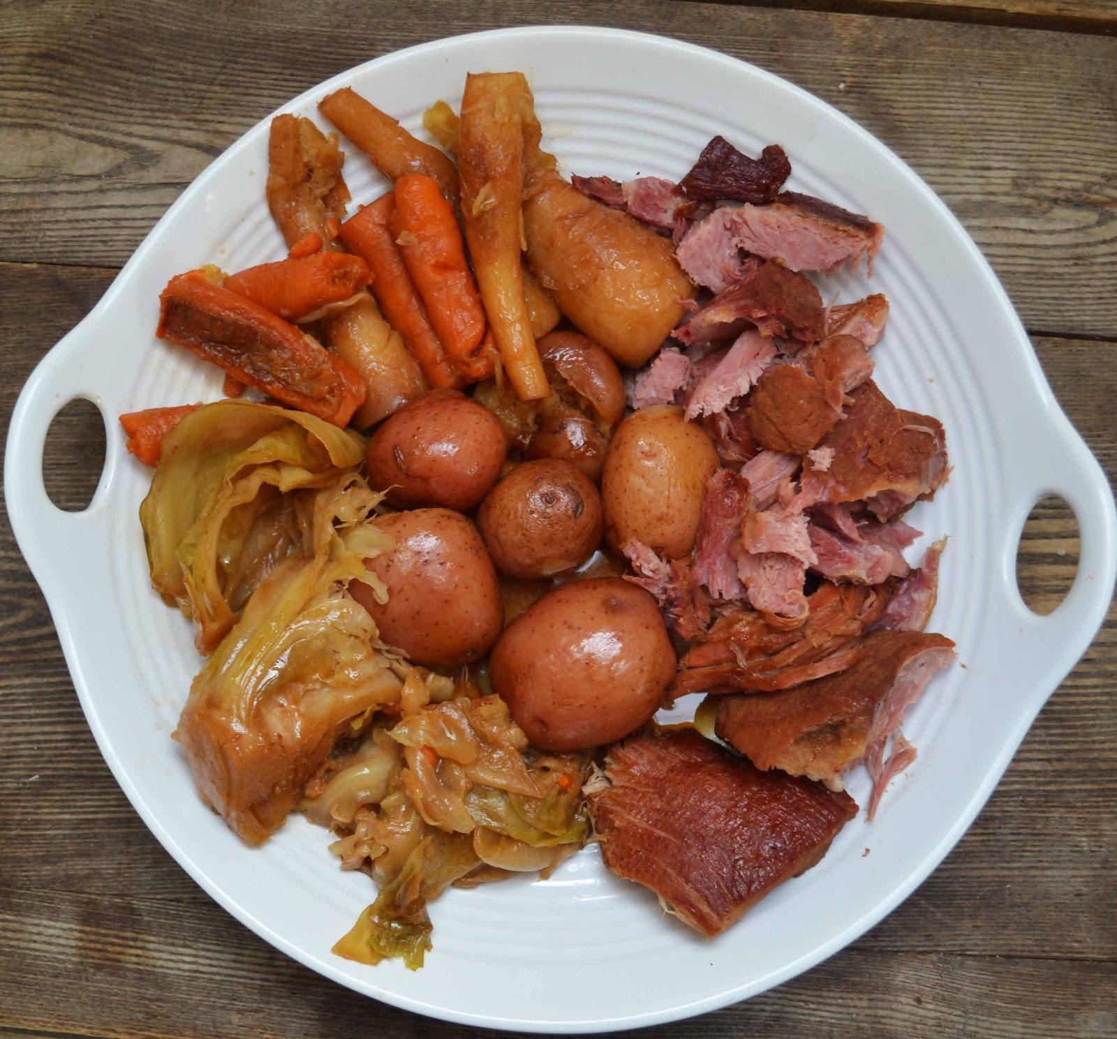 Boiled Dinner With Ham  New England Boiled Dinner Smoked Pork Shoulder Picnic Ham