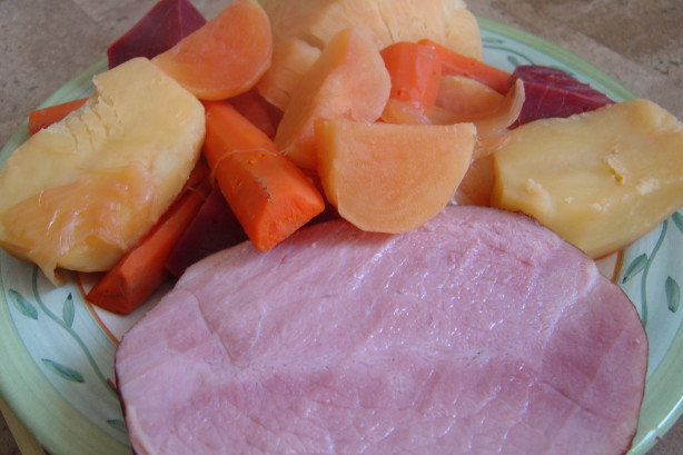 Boiled Dinner With Ham  Grammie Beas New England Boiled Dinner Recipe Food