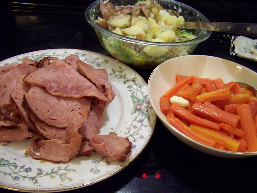 Boiled Dinner With Ham  Modern Day Ozzie and Harriet Ham Dinner