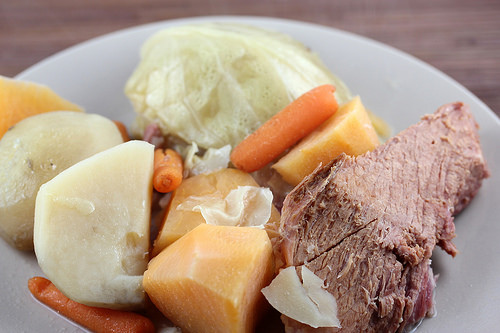Boiled Dinner With Ham  Slow Cooker Boiled Dinner with Leftover Ham Recipe Cully
