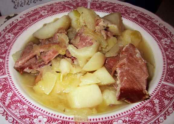 Boiled Dinner With Ham  ham and cabbage boiled dinner