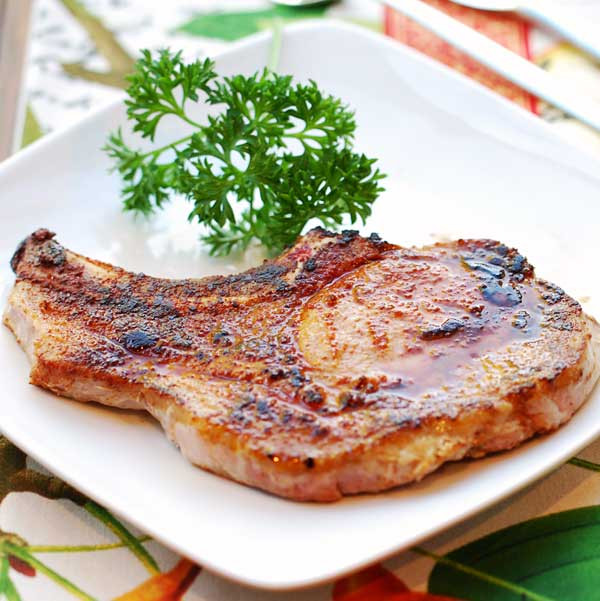Bone In Pork Chops In Oven  Baked Pork Chops Easy and Healthy Recipe VIDEO