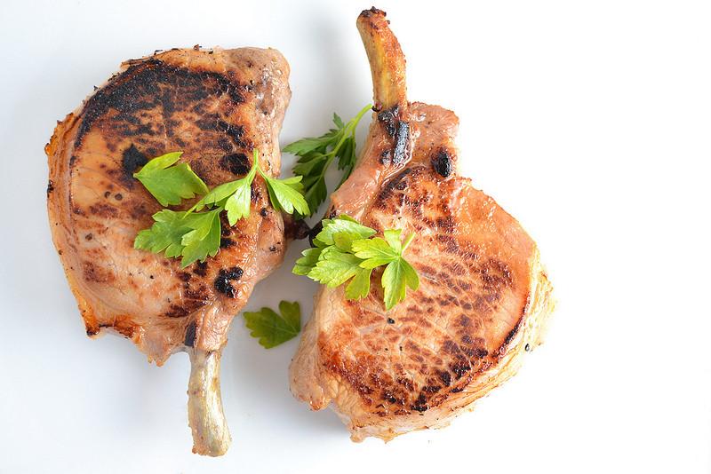 Bone In Pork Chops In Oven  apple cider and maple syrup brined bone in pork chops