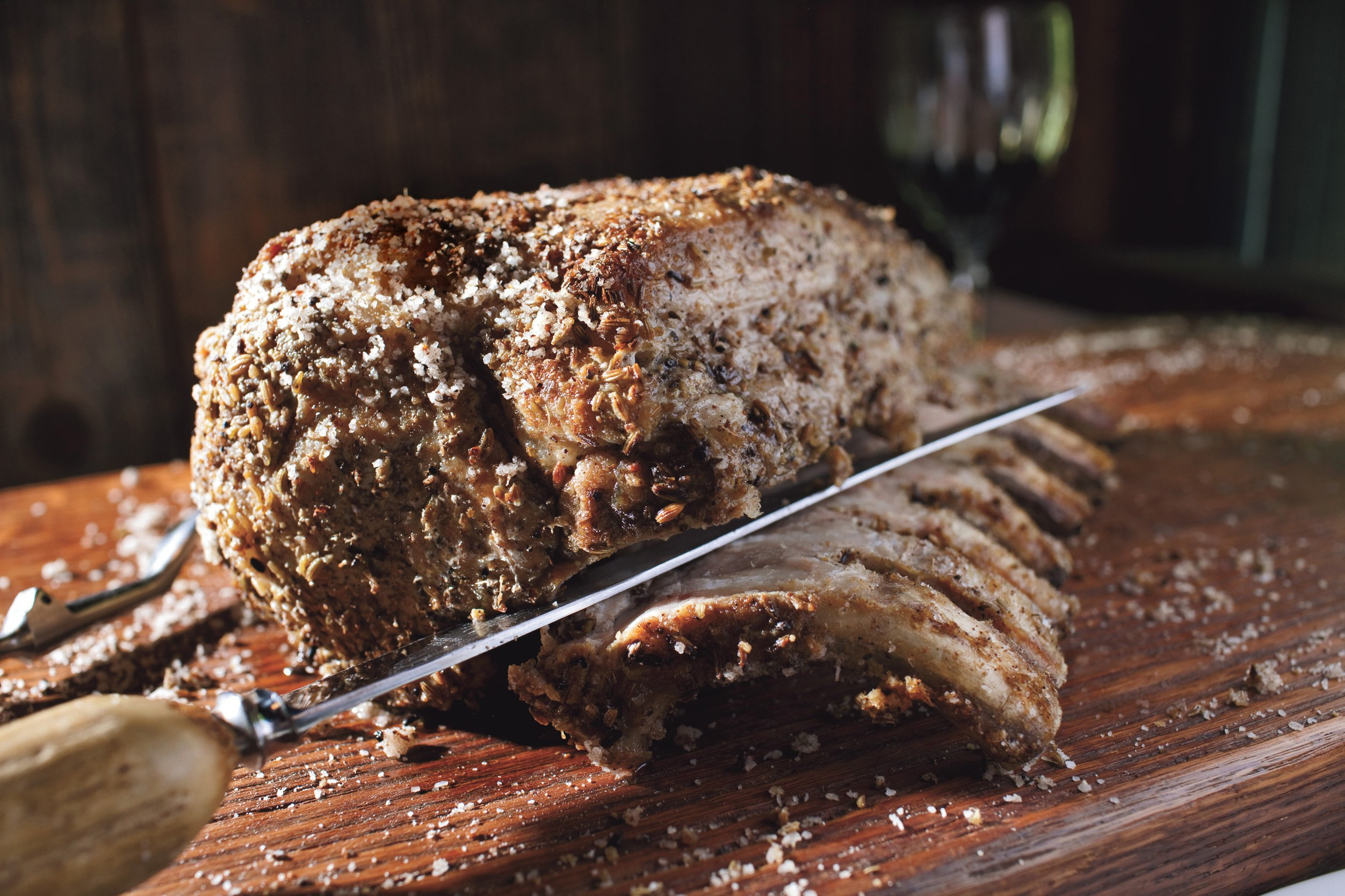 Bone In Pork Loin Roast  bone in pork loin roast recipes