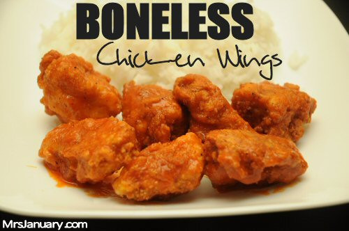 Boneless Chicken Wings Recipe  Boneless Chicken Wings Recipe