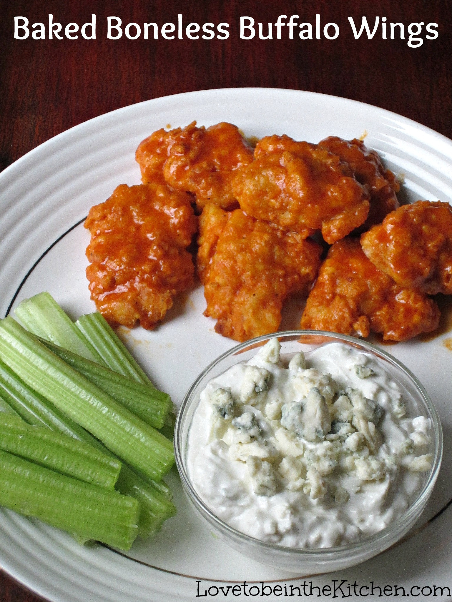 Boneless Chicken Wings Recipe  Baked Boneless Buffalo Wings Love to be in the Kitchen