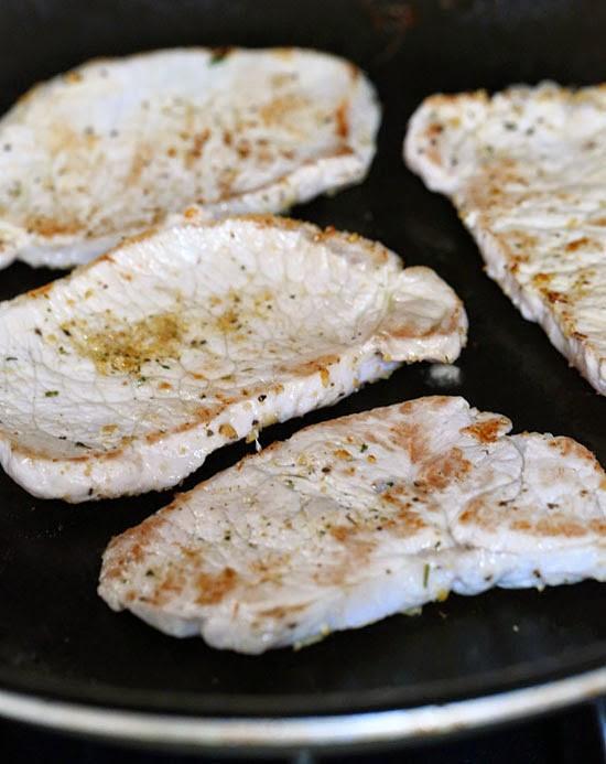 Boneless Pork Chops  Mediterranean Boneless Pork Chops with Summer Veggies