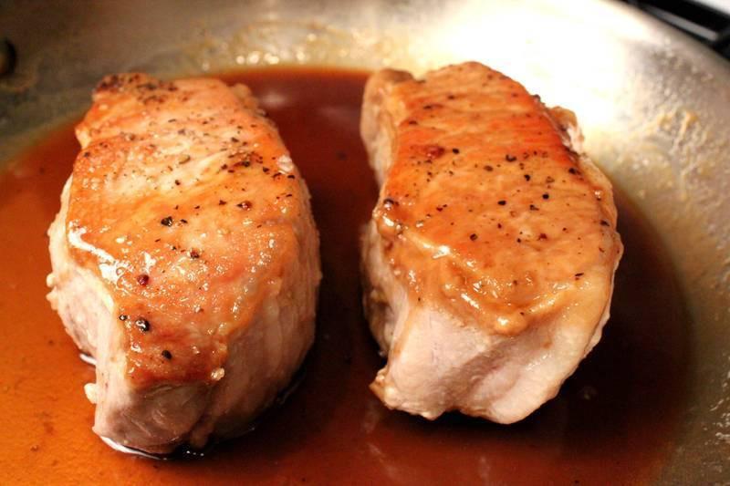 Boneless Pork Loin Chops  Cider Glazed Boneless Pork Loin Chops Recipe by Debby