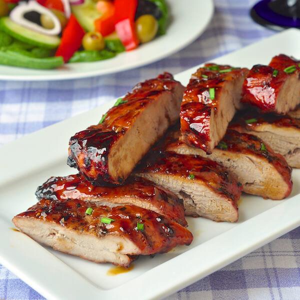 Boneless Pork Ribs Recipe  Low Fat Honey Garlic Boneless Ribs quick and easy too