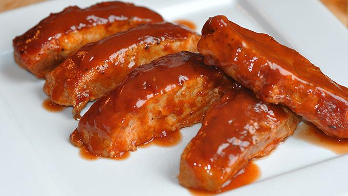 Boneless Pork Ribs  barbecue boneless pork ribs in oven