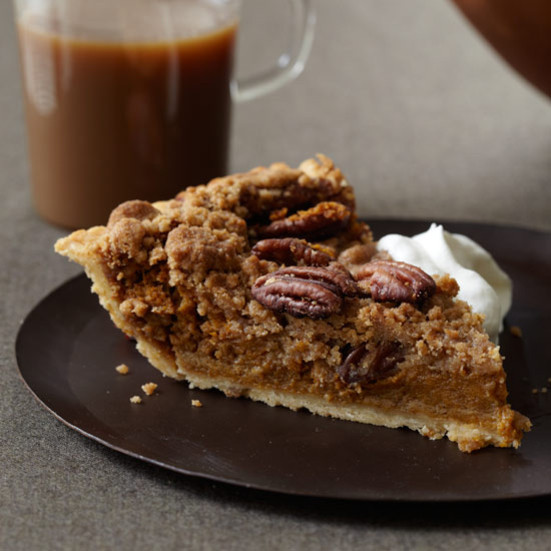 Bourbon Pumpkin Pie  Bourbon Pumpkin Pie with Pecan Streusel Recipe Robert