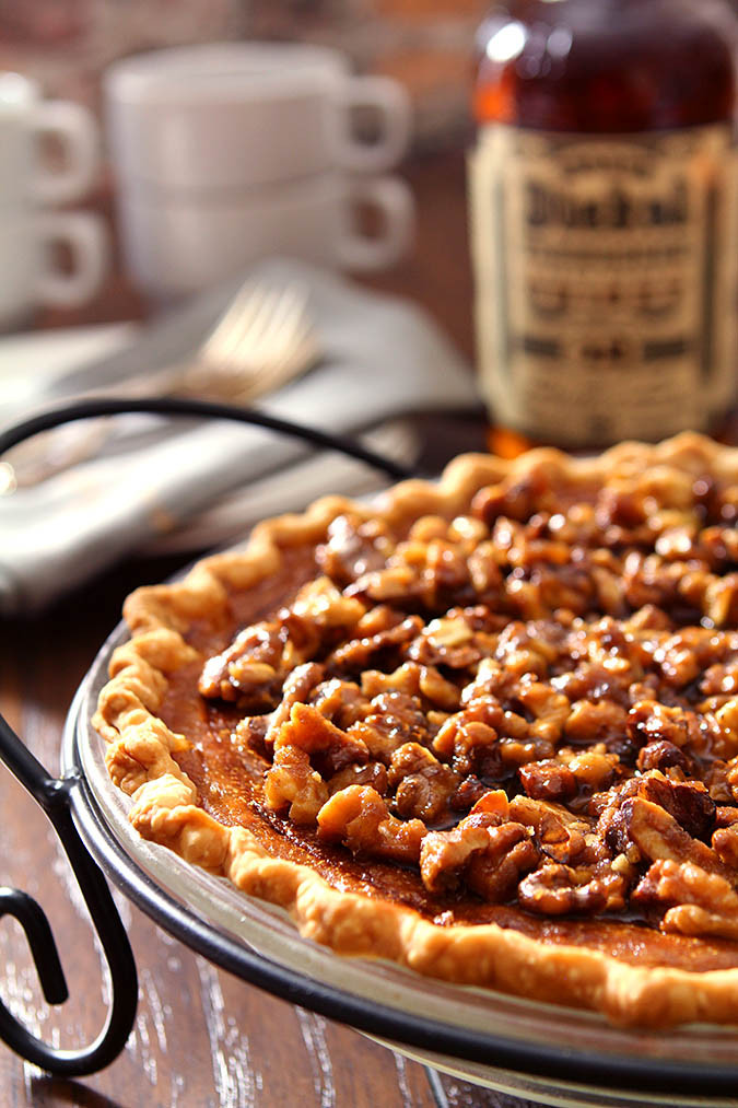 Bourbon Pumpkin Pie  Bourbon Pumpkin Pie with Toasted Walnuts