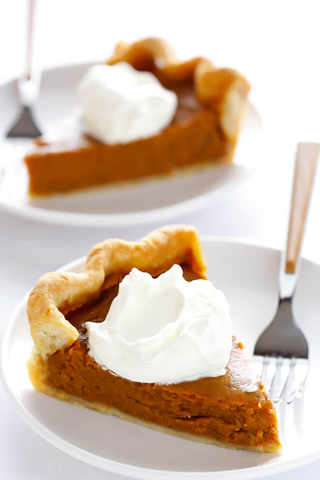 Bourbon Pumpkin Pie  Homemade Whipped Cream