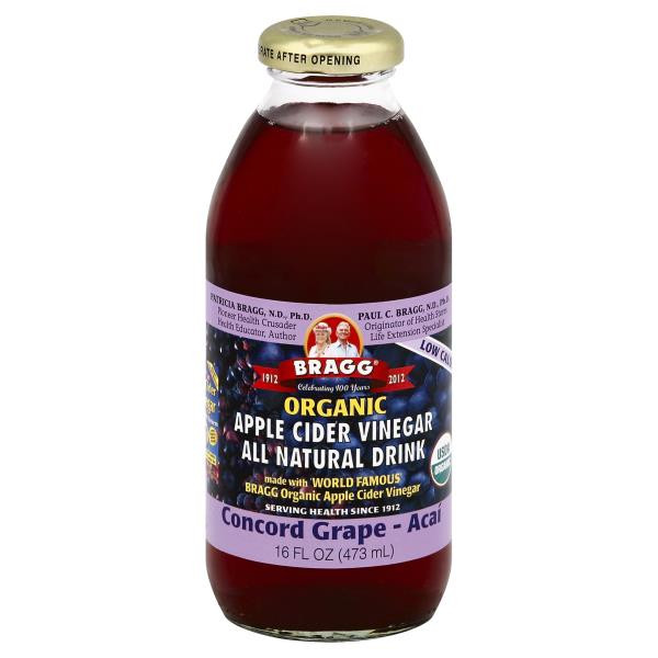 Braggs Apple Cider Vinegar Drink  Bragg Apple Cider Vinegar Drink Organic Concord Grape