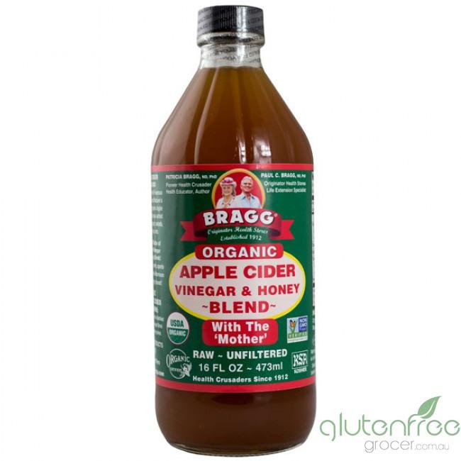 Braggs Apple Cider Vinegar Drink  Gluten Free Grocers Organic Apple Cider Vinegar & Honey