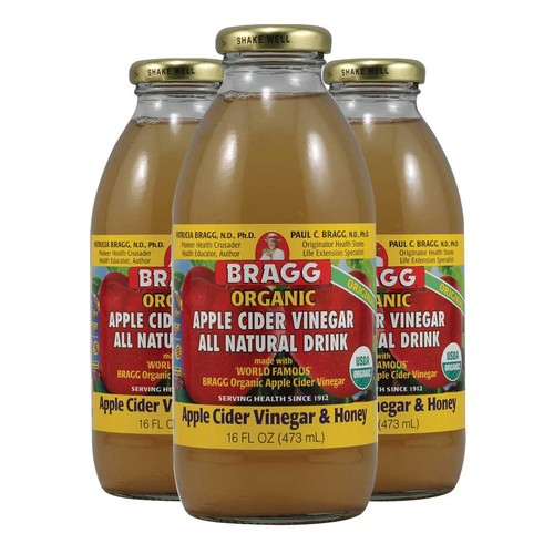 Braggs Apple Cider Vinegar Drink  Bragg Apple Cider Vinegar Drink with Honey 3 x 473ml