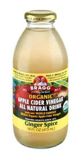 Braggs Apple Cider Vinegar Drink  Bragg Organic Apple Cider Vinegar Drink Ginger Spice 16