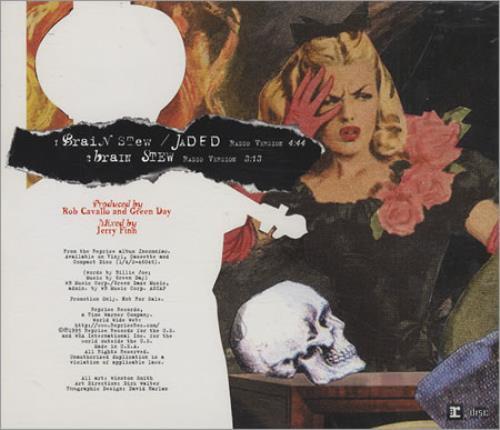 "Brain Stew Green Day  Green Day Brain Stew US Promo CD single CD5 5"""