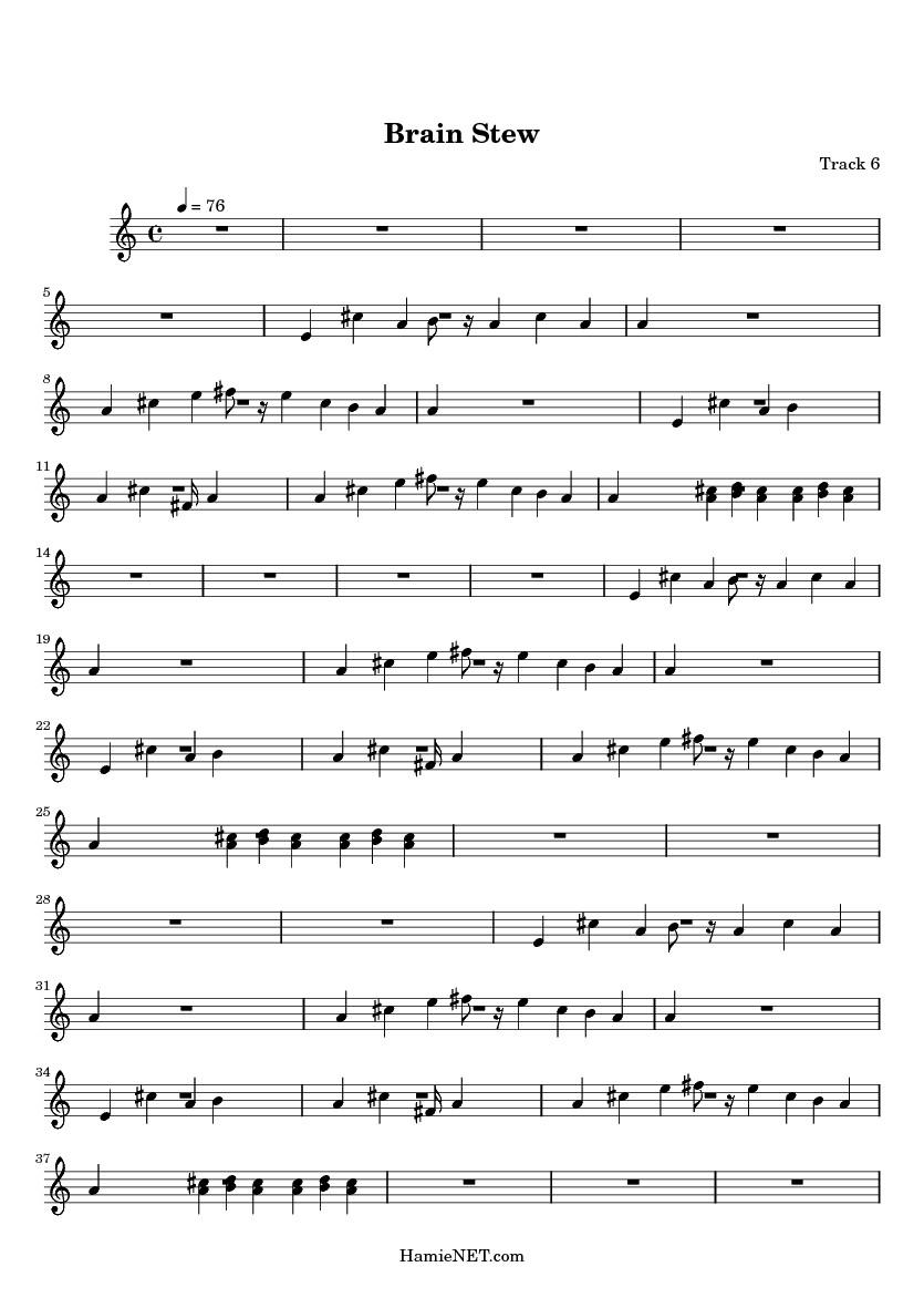 Brain Stew Lyrics  Brain Stew Sheet Music Brain Stew Score • HamieNET