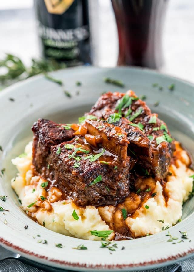 Braised Beef Short Ribs  Guinness Braised Short Ribs Jo Cooks