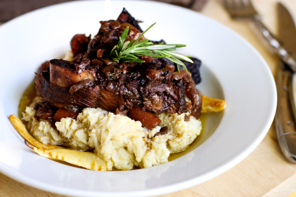 Braised Beef Short Ribs  Braised Beef Short Ribs Parsnip Puree an adapted Ad Hoc