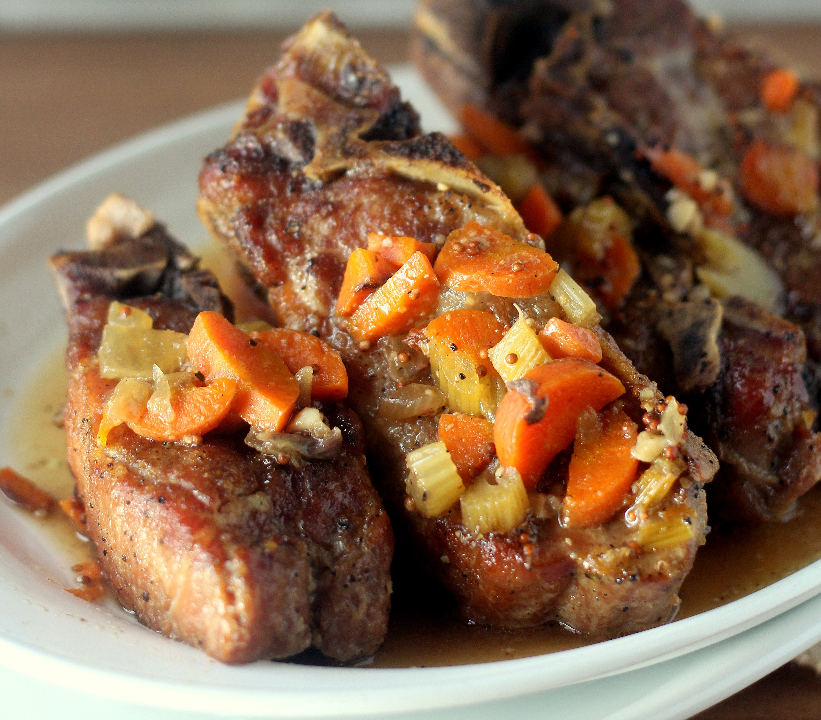 Braised Country Style Pork Ribs  Mustard and Beer Braised Pork Ribs Blackberry Babe