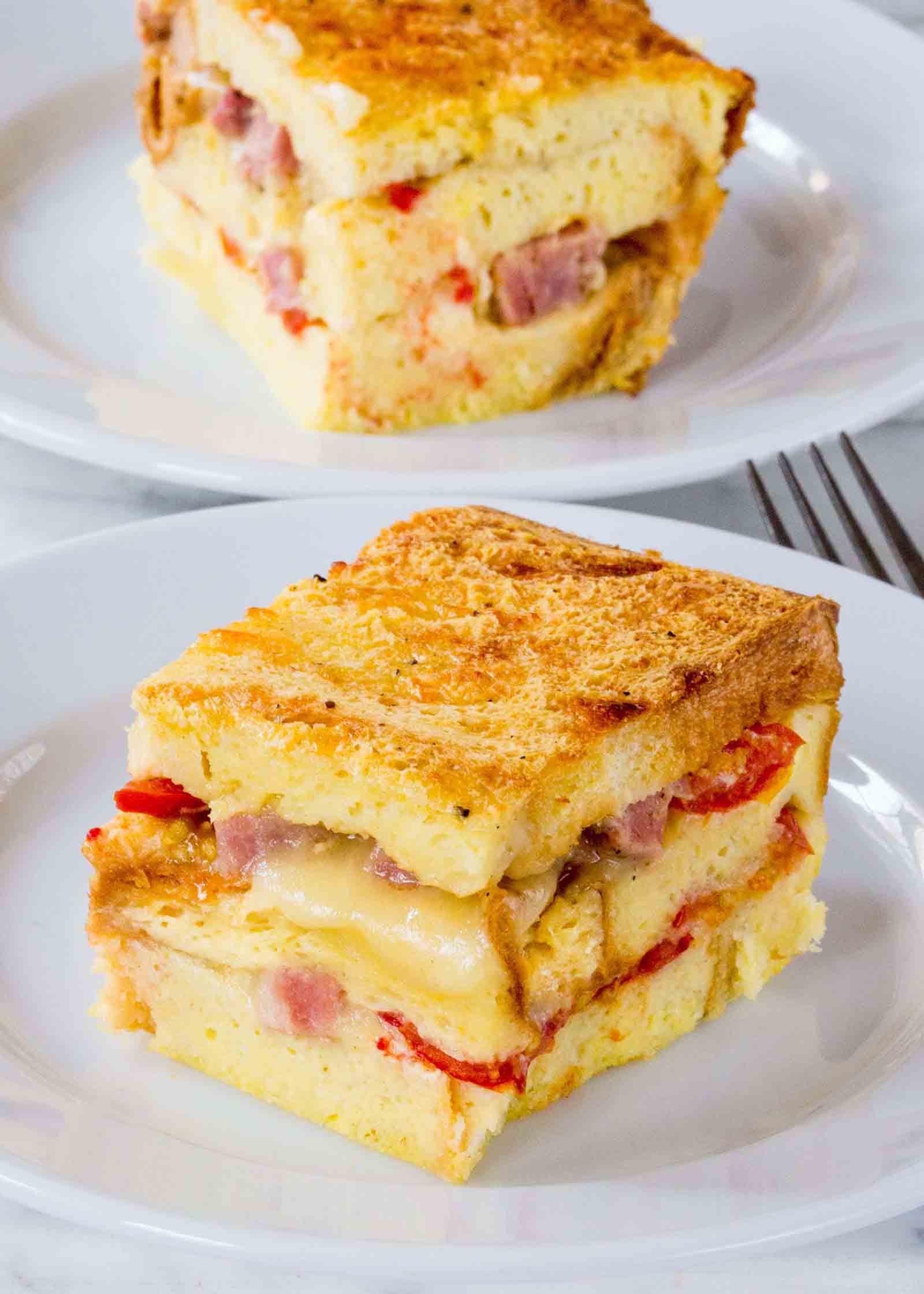 Bread And Breakfast  Ham and Cheese Breakfast Casserole Recipe