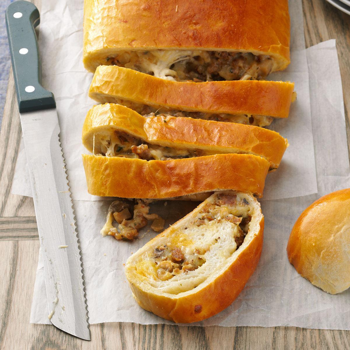 Bread And Breakfast  Breakfast Sausage Bread Recipe