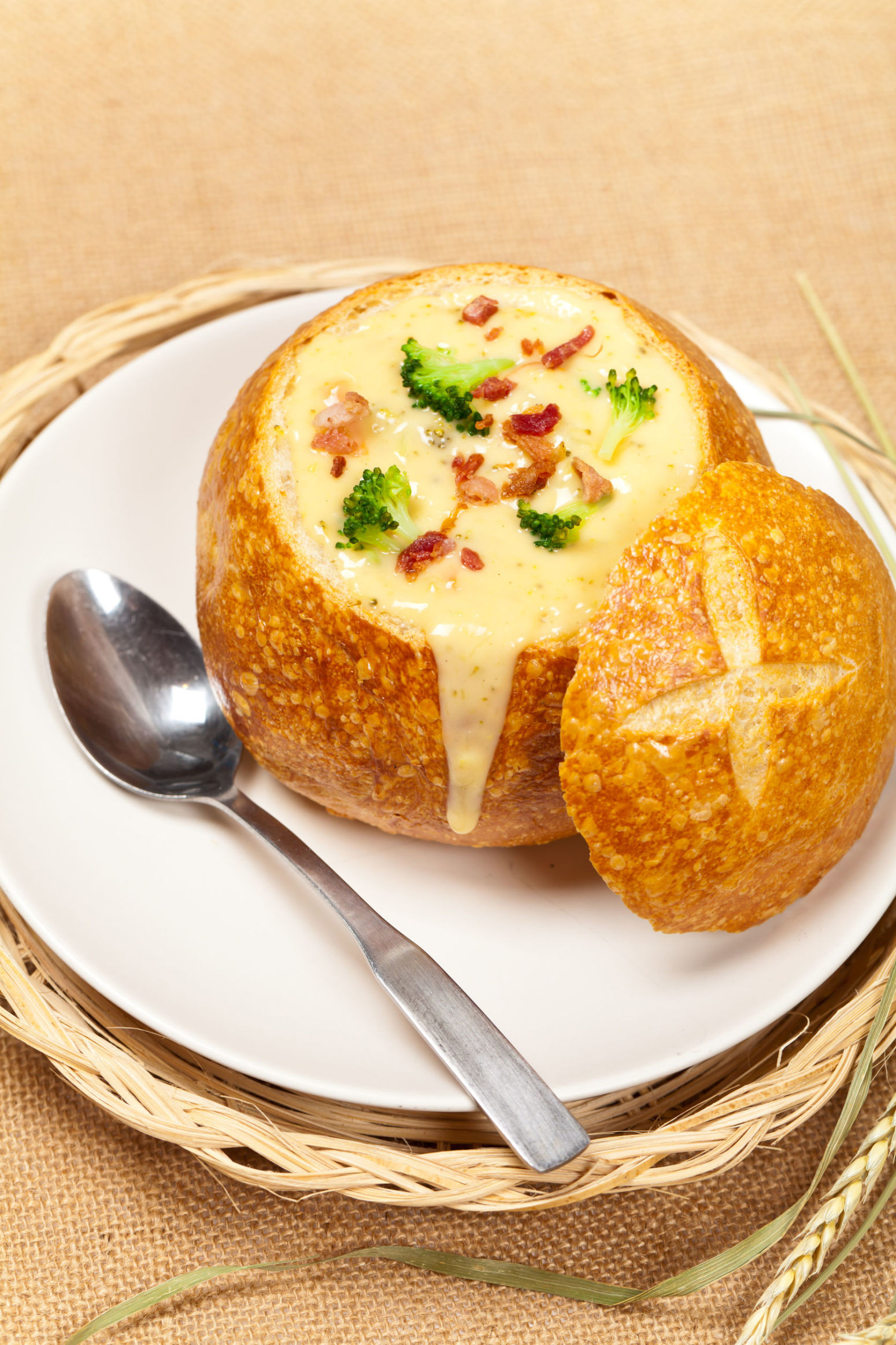 Bread Bowl Recipe  Bacon Broccoli Cheddar Bread Bowl Serves 6 Recipe 7