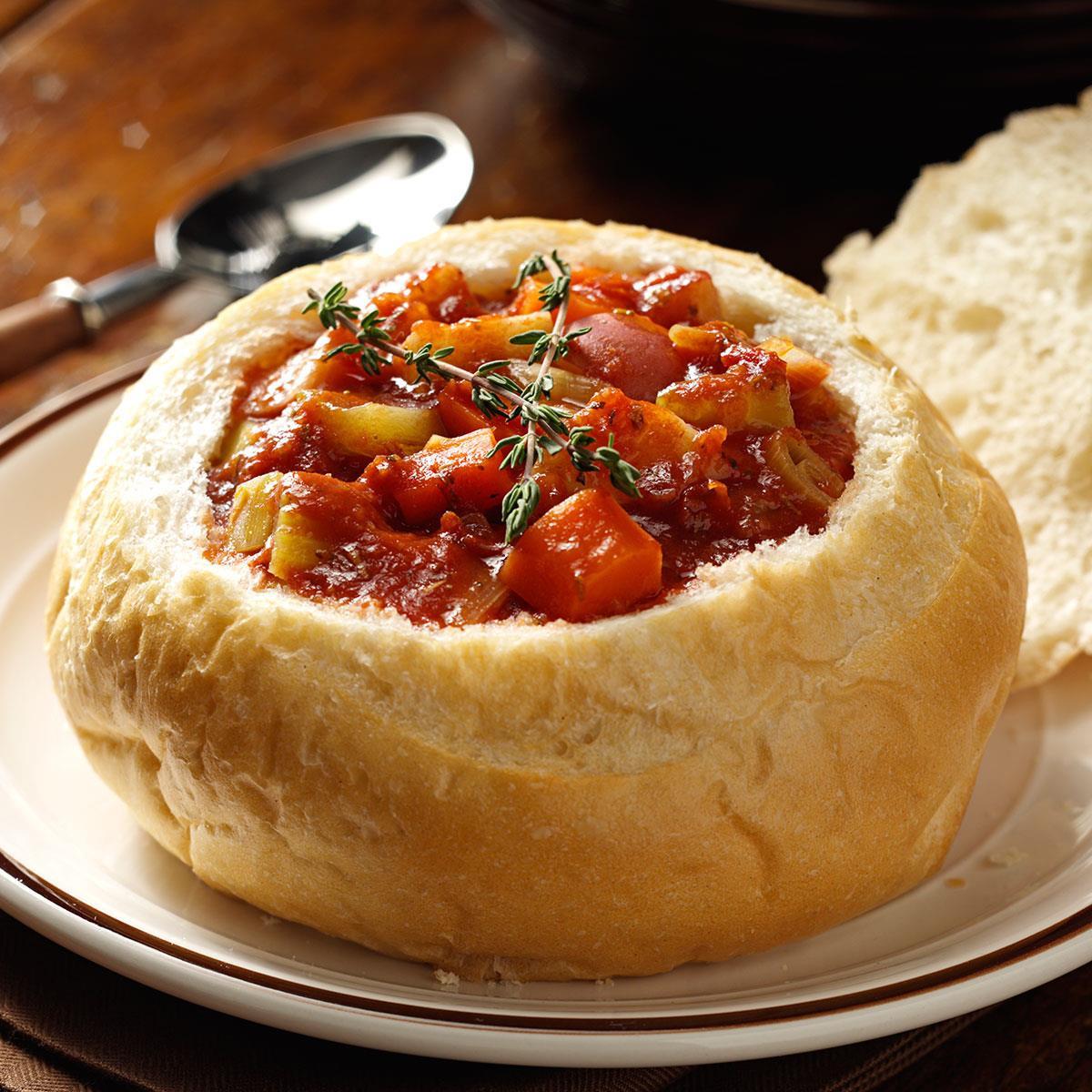 Bread Bowl Recipe  Ve arian Stew in Bread Bowls Recipe