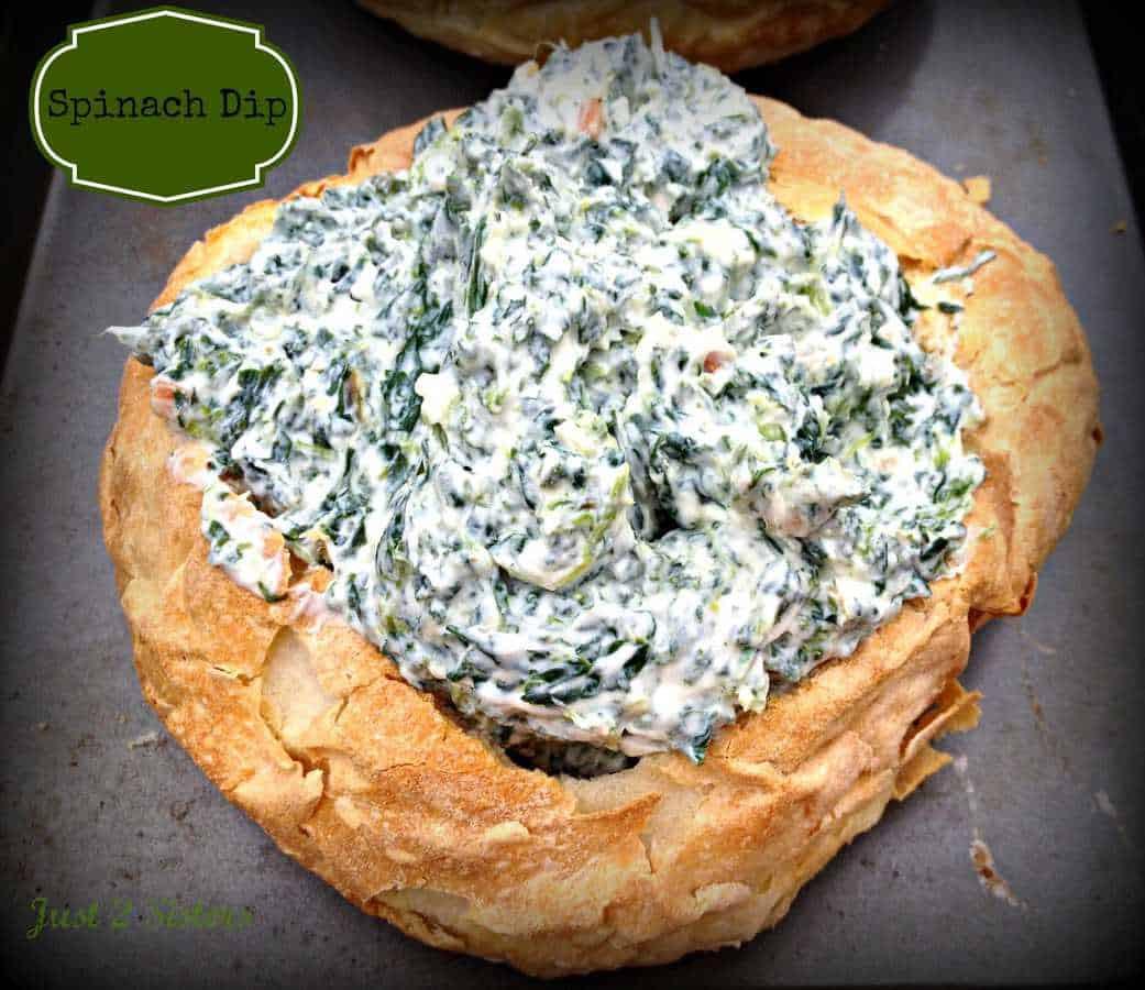 Bread Bowl Recipe  Spinach Dip Bread Bowl Recipe Just 2 Sisters