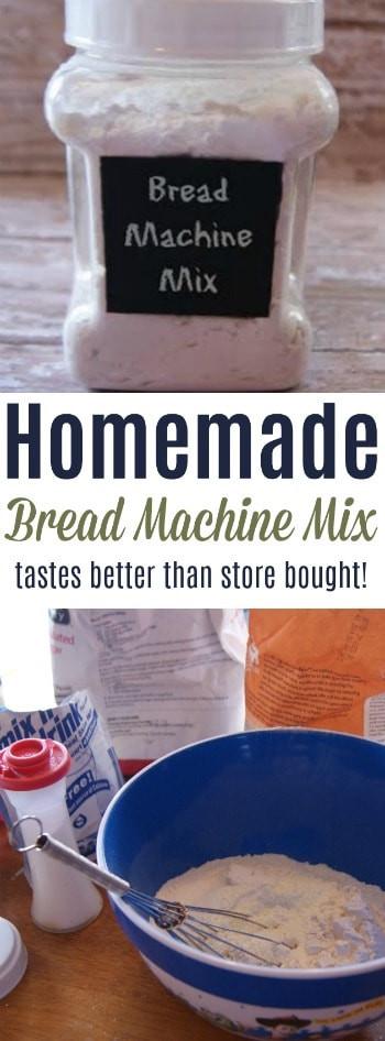 Bread Machine Mixes  Homemade Bread Machine Mix