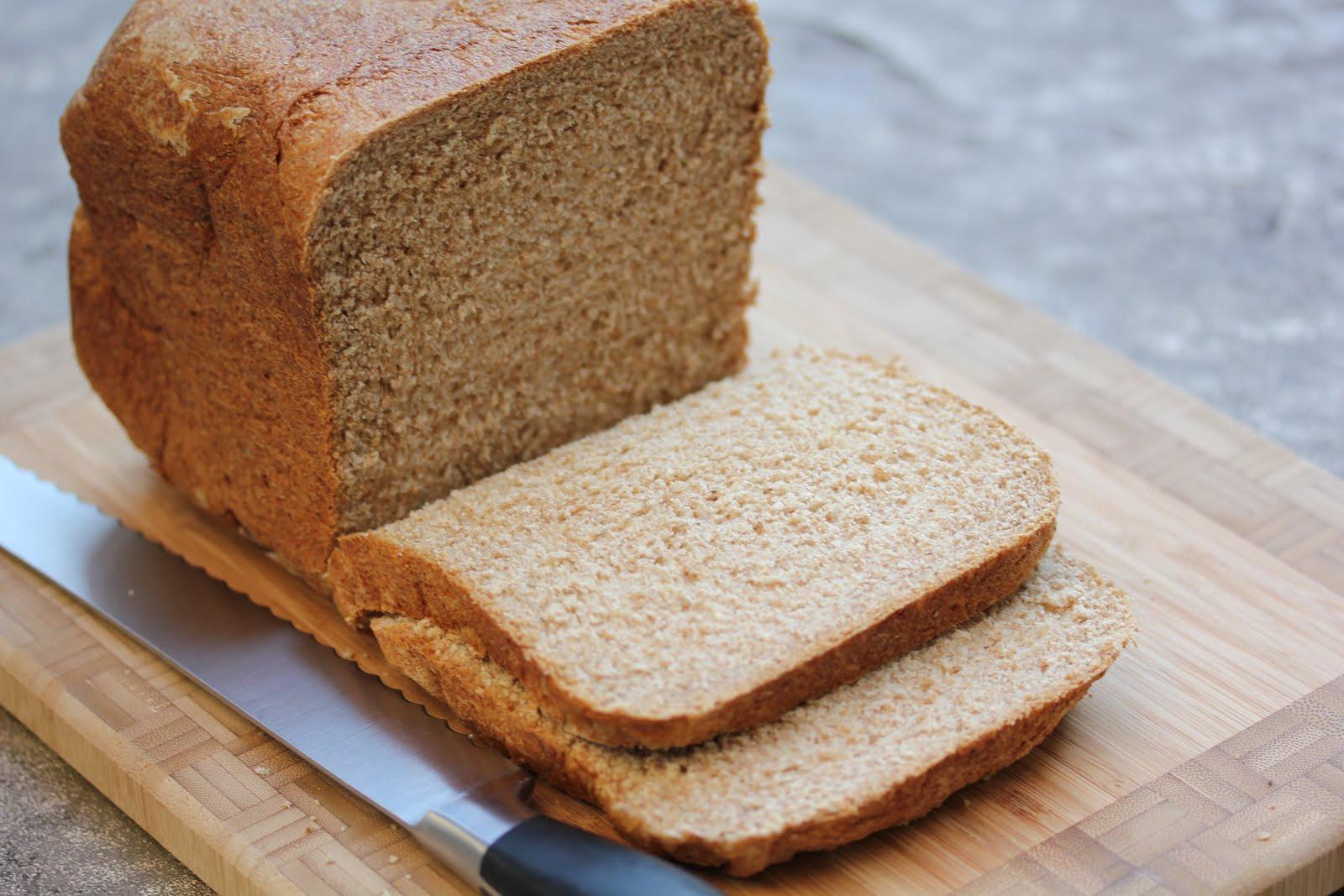 Bread Machine Wheat Bread  whole wheat honey bread