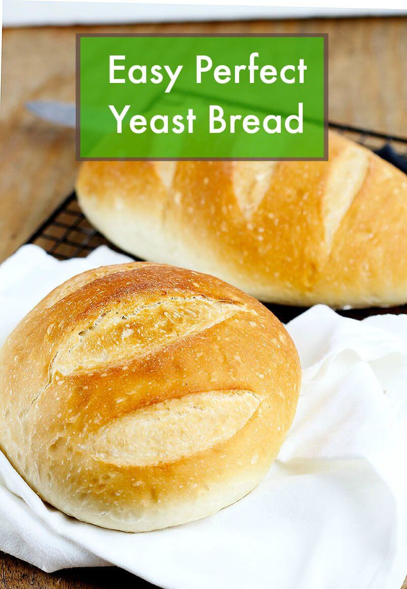 Bread Recipe With Yeast  Easy Perfect Yeast Bread