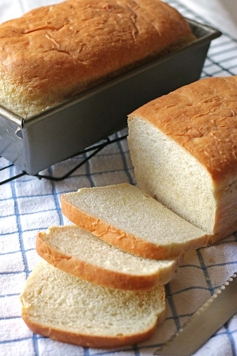 Bread Recipe With Yeast  white yeast loaves