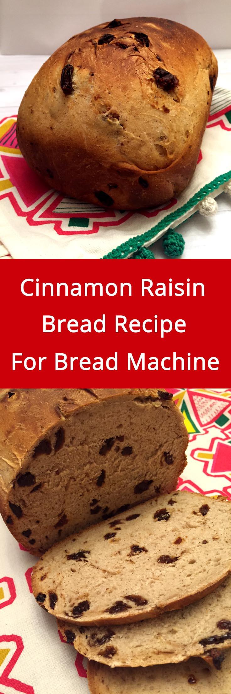 Bread Recipes For Bread Machine  Cinnamon Raisin Bread Recipe For Bread Machine – Melanie Cooks