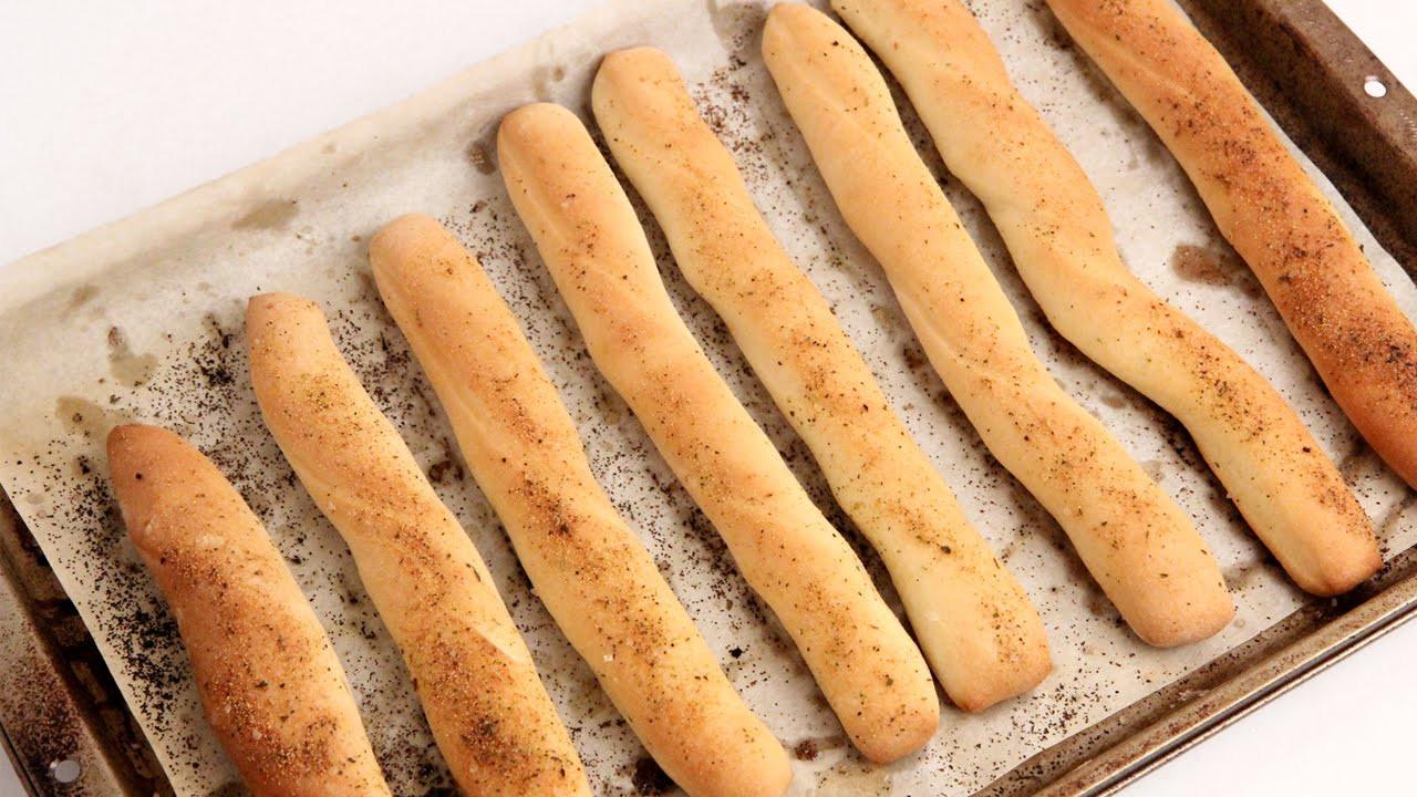 Bread Sticks Recipe  Homemade Breadsticks Recipe Laura Vitale Laura in t