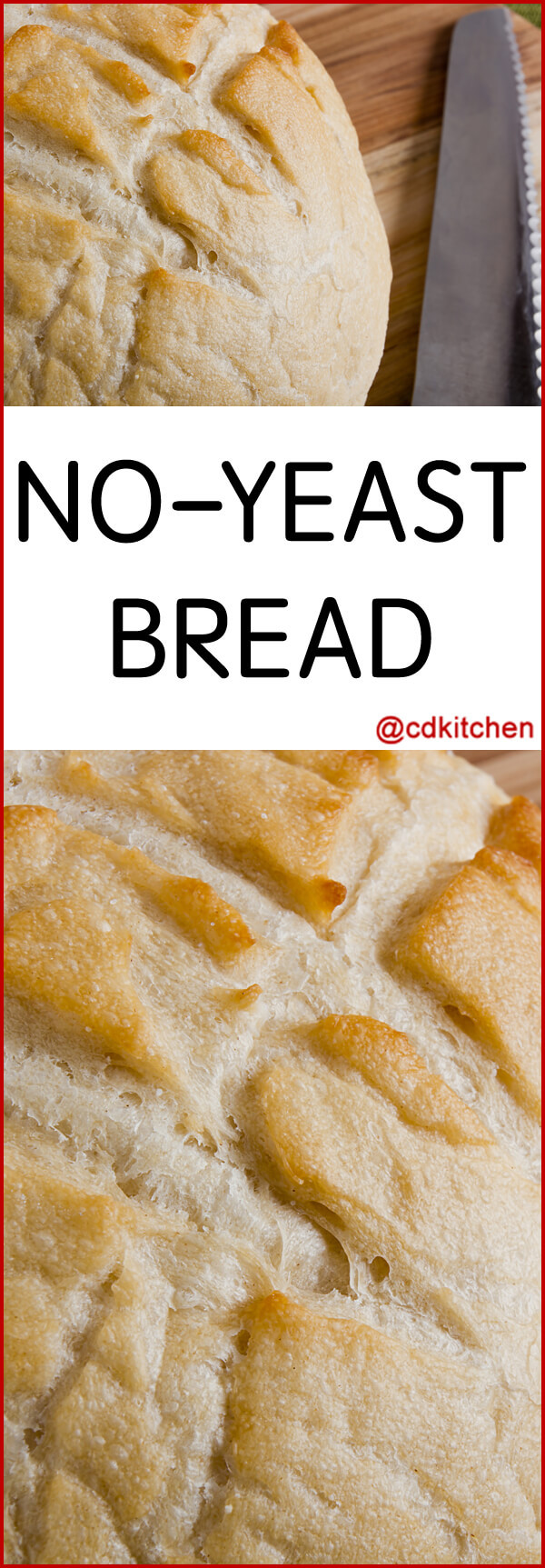 Bread Without Yeast  easy bread recipe no yeast no baking powder
