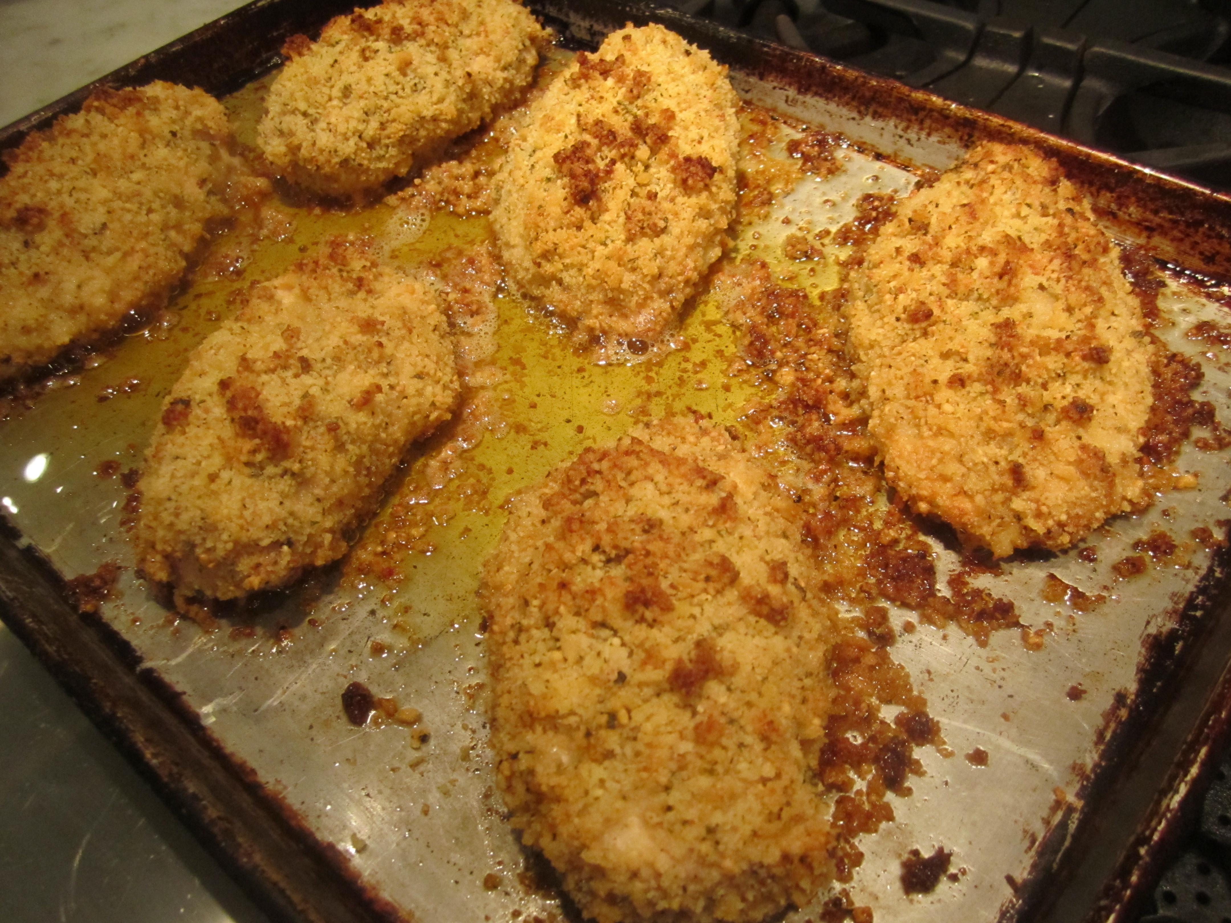 Breaded Baked Chicken  Mom's Baked Breaded Chicken Breasts