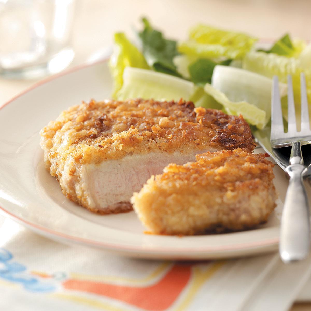 Breaded Baked Pork Chops  Breaded Pork Chops Recipe